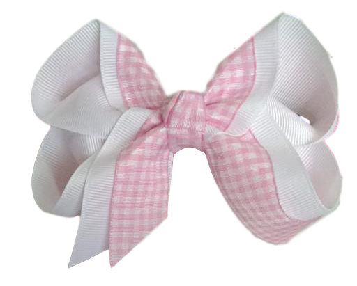 Pink Gingham Boutique Bow