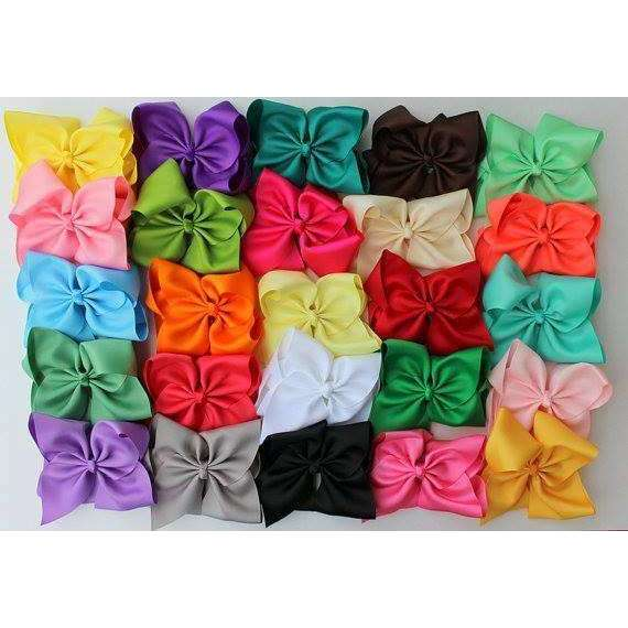 24- 6 Inch Hair Bow Bundle Set