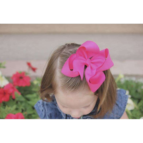 5 inch Solid Color Hair Bows
