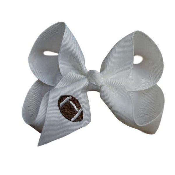 Football Bow - Embroidered