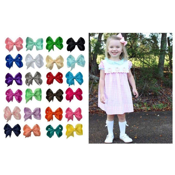 Hair Bow Set- 24 Grosgrain Hair Bows