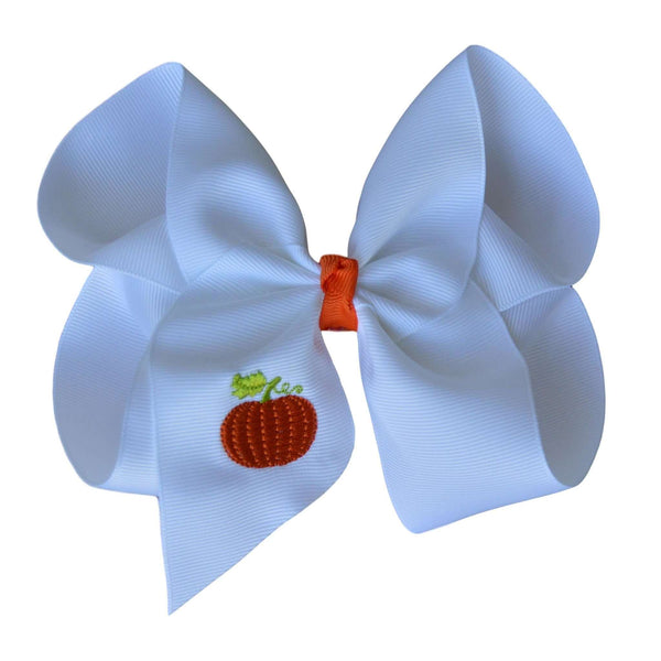 Monogram Pumpkin Hair Bow