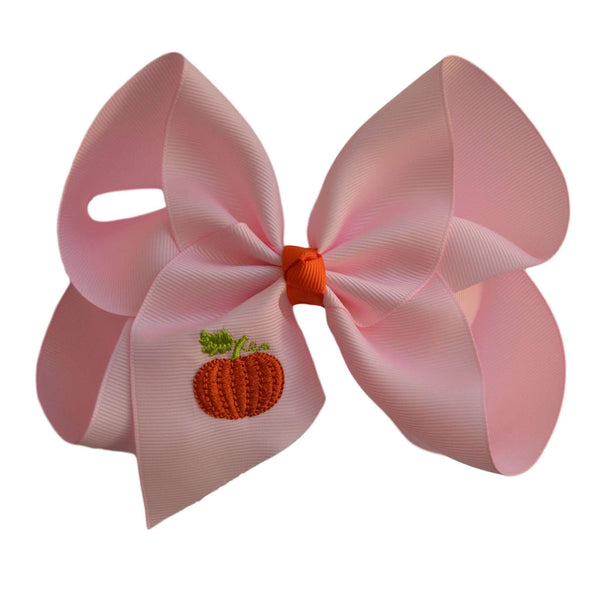 Pretty in Pink Pumpkin Hair Bow