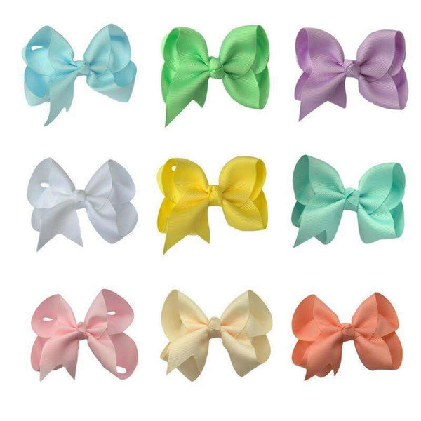 Pastel Hair Bow Set with FREE Pink Bow