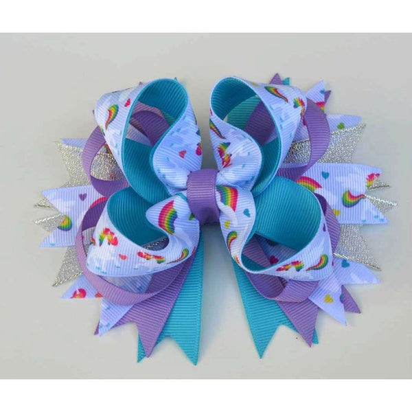 Unicorns and Rainbows Boutique Bow