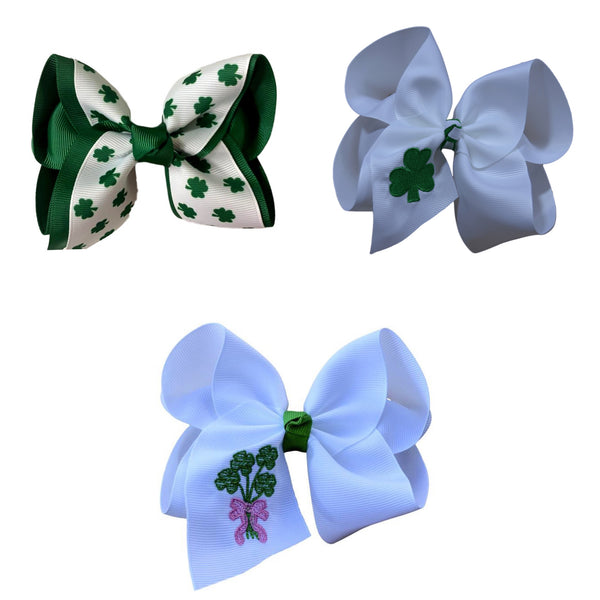 Shamrock Parade Boutique Bow Set
