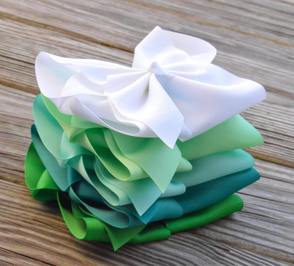 Double Ruffle Christmas Boutique Bow