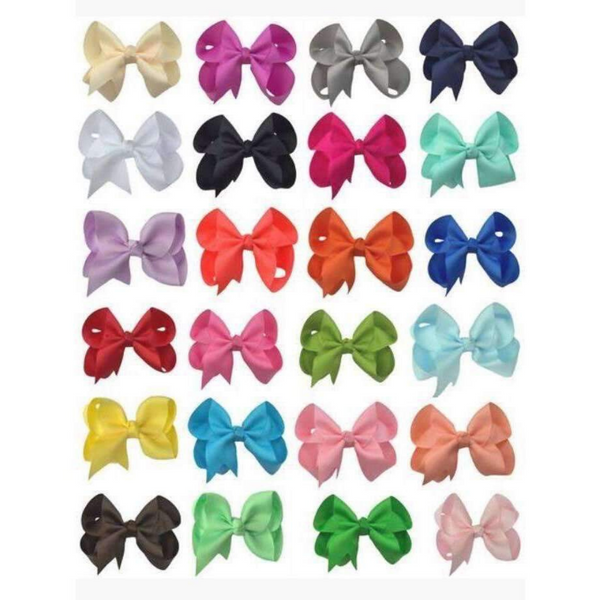 24 Grosgrain Bows- A Bow For Every Outfit Set