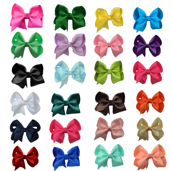 3 Inch Hair Bow Set - 24 Bow Bundle