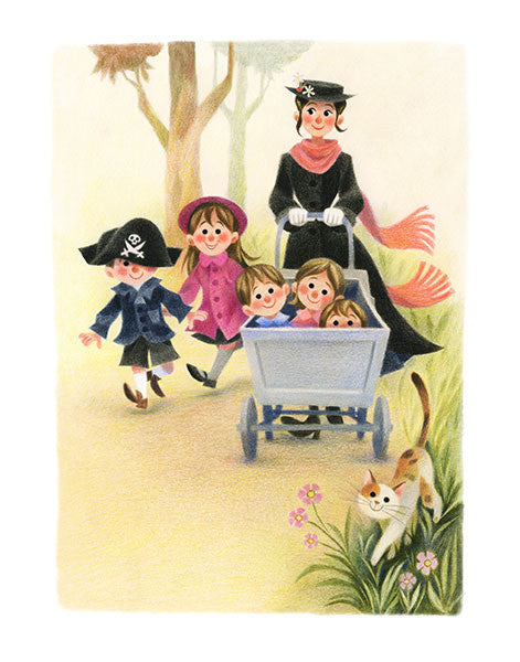 Geneviève Godbout - Art print - Mary Poppins in the Park - Sur ton mur - 1