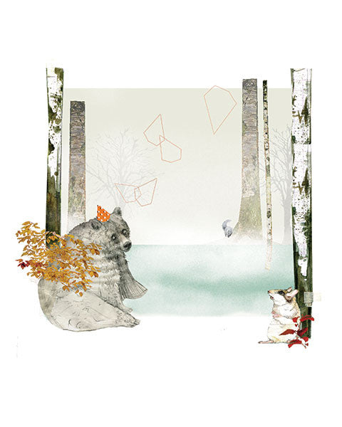 Suana Verelst - Art print - Bear in the Woods - Sur ton mur - 1