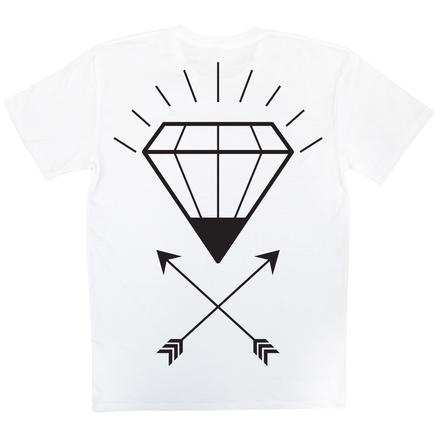 Skate Wear - White Diamond Thieves Tee