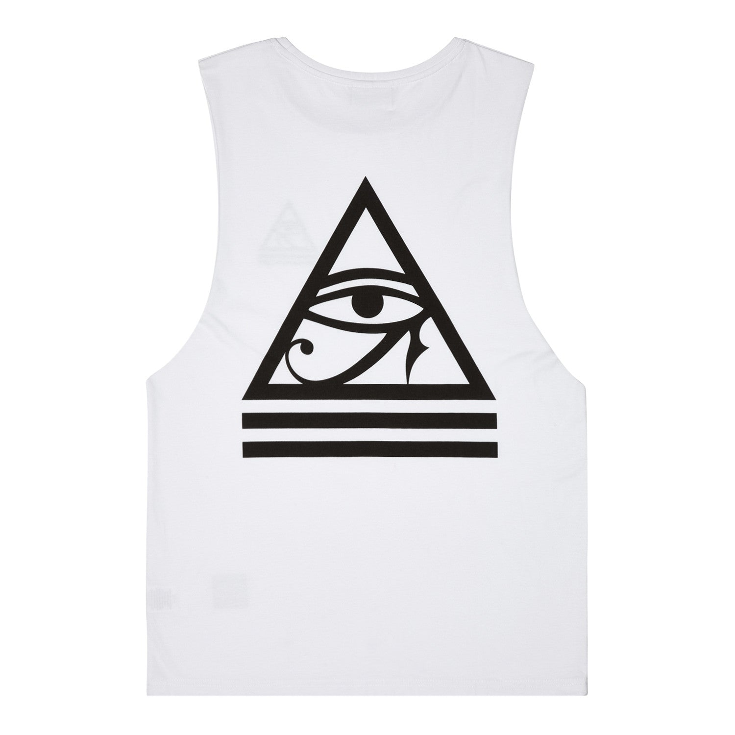 3.8 White All Seeing Eye Muscle Tee
