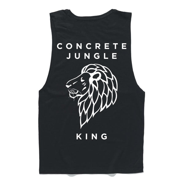 3.3 Black Concrete Jungle King Muscle Tee