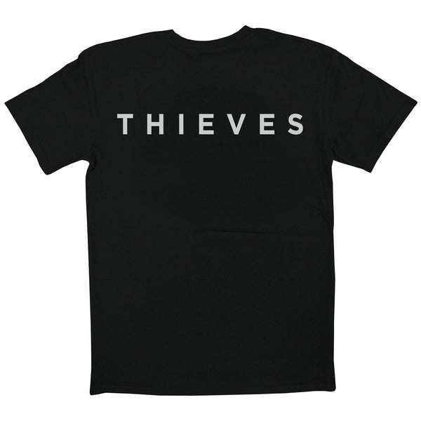 Skate Wear - Black Tee with Thieves Logo - Back