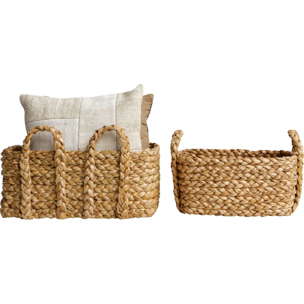 Braided Baskets , Baskets - creative coop, orchard + olive  - 1