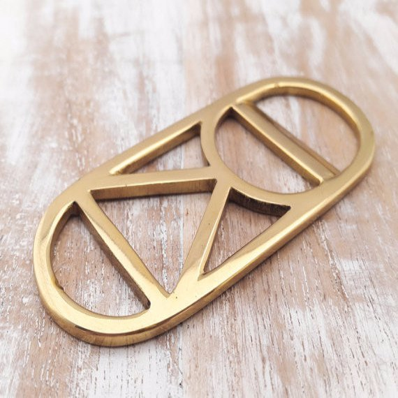 Brass Bottle Opener , bottle opener - My Cup Of Love, orchard + olive  - 1