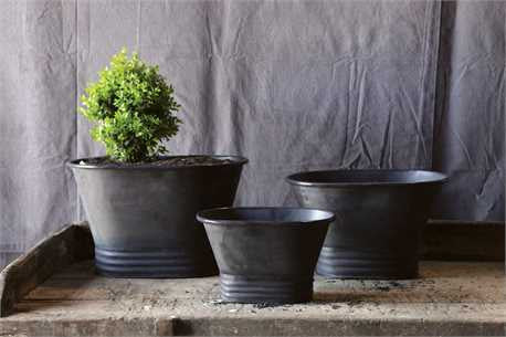 Black Metal Planters , Planters - creative coop, orchard + olive