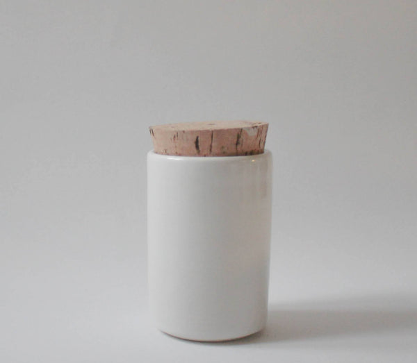 Ceramic Jar with Cork Lid , Jar - Stuck in the mud pottery, orchard + olive  - 1
