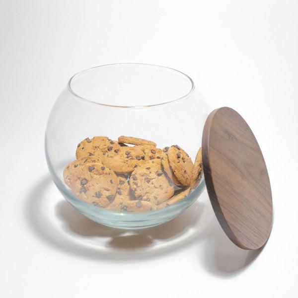 cookie jar with walnut lid , Jar - Turnco Wood Goods, orchard + olive  - 1