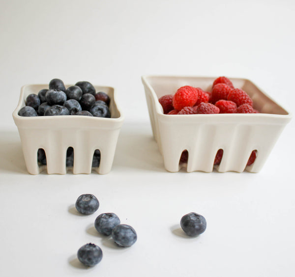 Ceramic Berry Basket Set of both, berry baskets - Revisions Design Studio, orchard + olive  - 1