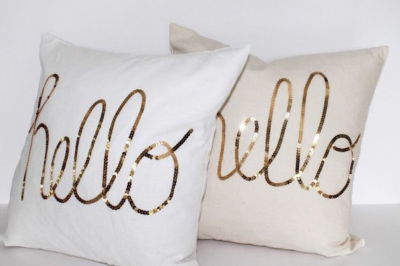 Sequin Throw Pillows True White / Hello, pillows - orchard + olive, llc., orchard + olive  - 2