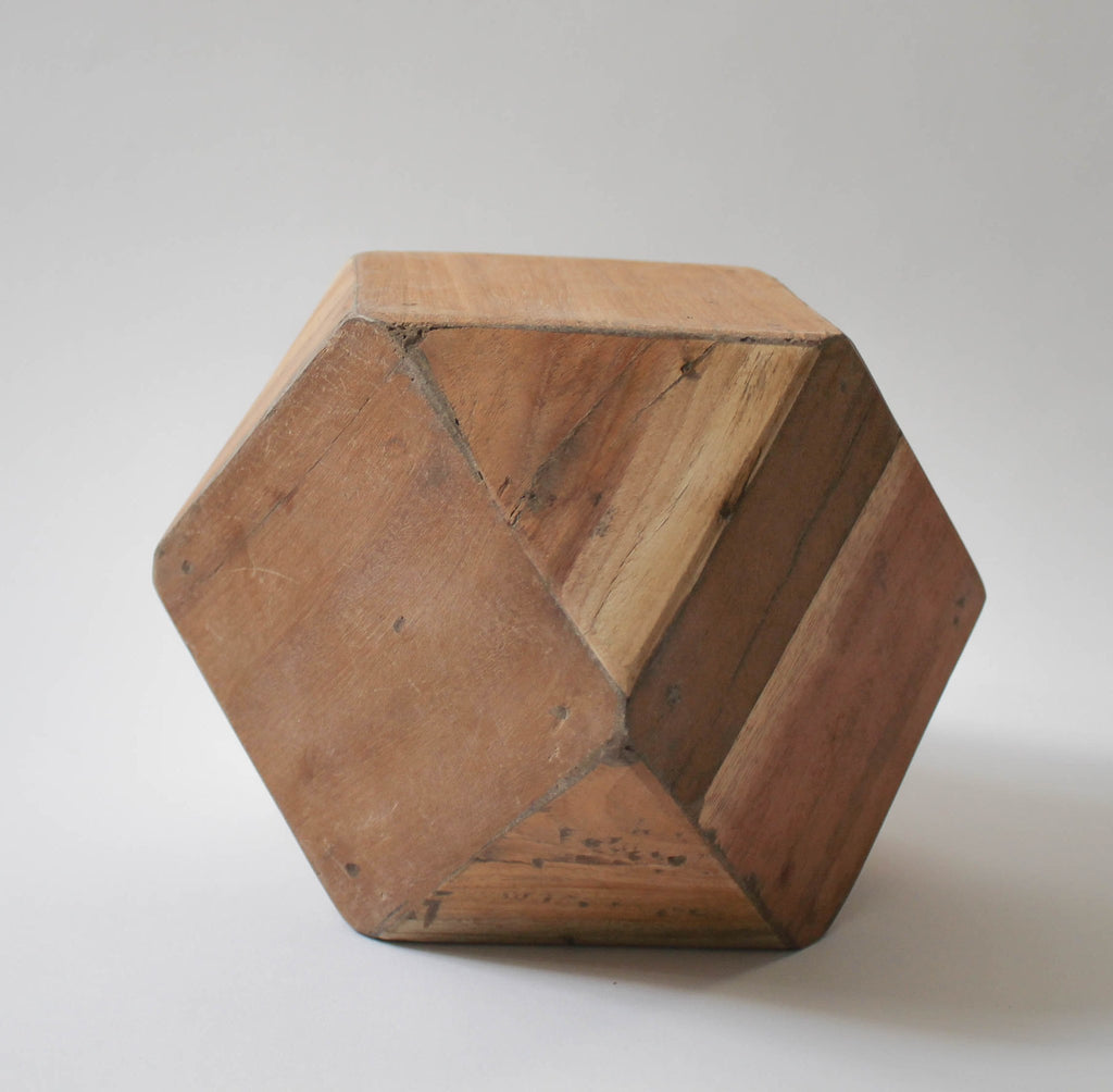 Geometric Wood Block , Wood Blocks - HomArt, orchard + olive  - 1