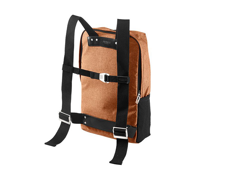Brooks England - Dalston Tex Nylon Backpack Orange back