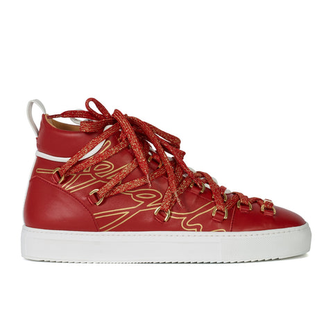 ANGELI VERGILY - Men's Future 2000 Mid - Top Scarlet Red & White
