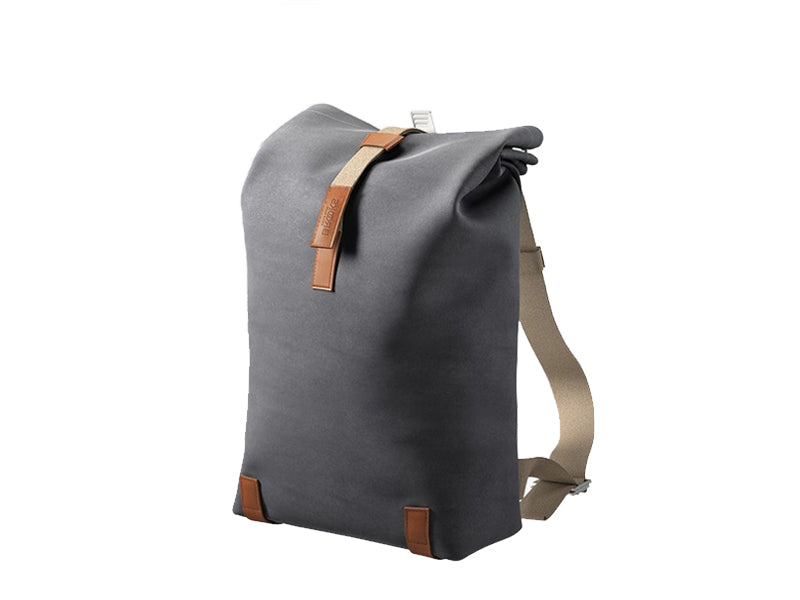 Brooks England - Pickwick Cotton Canvas Backpack Small Grey Brown