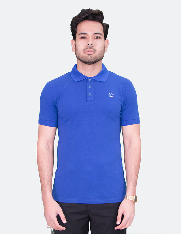 KRIOSWEAR - Royal Blue Short Sleeve Polo shirt