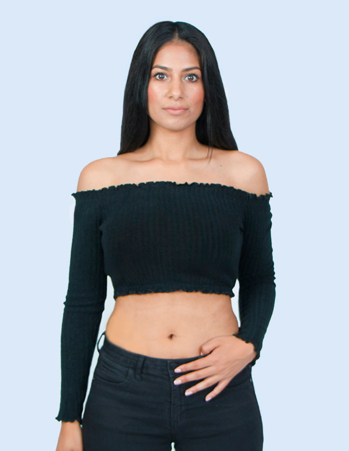 KRIOSWEAR Off Shoulder Crop top