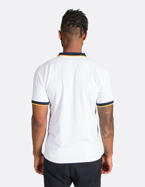 KRIOSWEAR - Blue and Gold Short Sleeve Polo shirt back