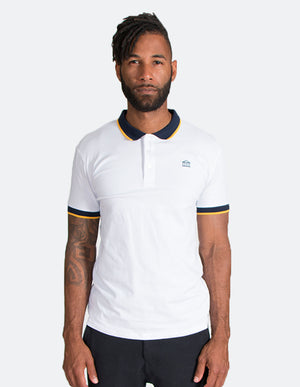 KRIOSWEAR - Blue and Gold Short Sleeve Polo shirt