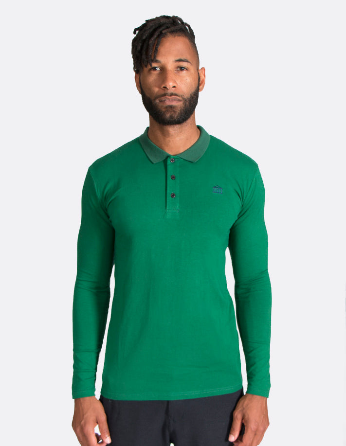KRIOSWEAR Green Long sleeve Polo shirt