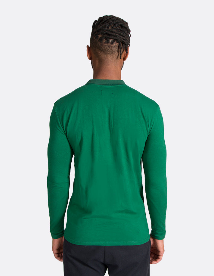 KRIOSWEAR Green Long sleeve Polo shirt back