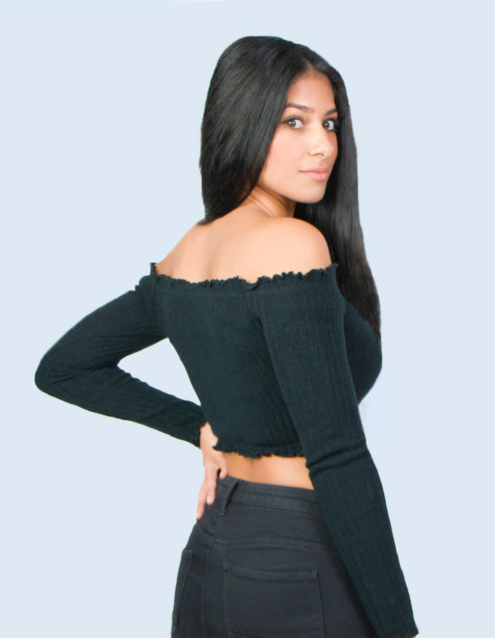 KRIOSWEAR Off Shoulder Crop top back