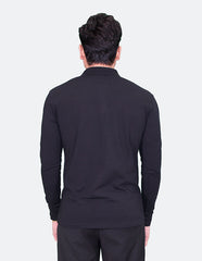 KRIOS - Long Sleeve Black Polo shirt