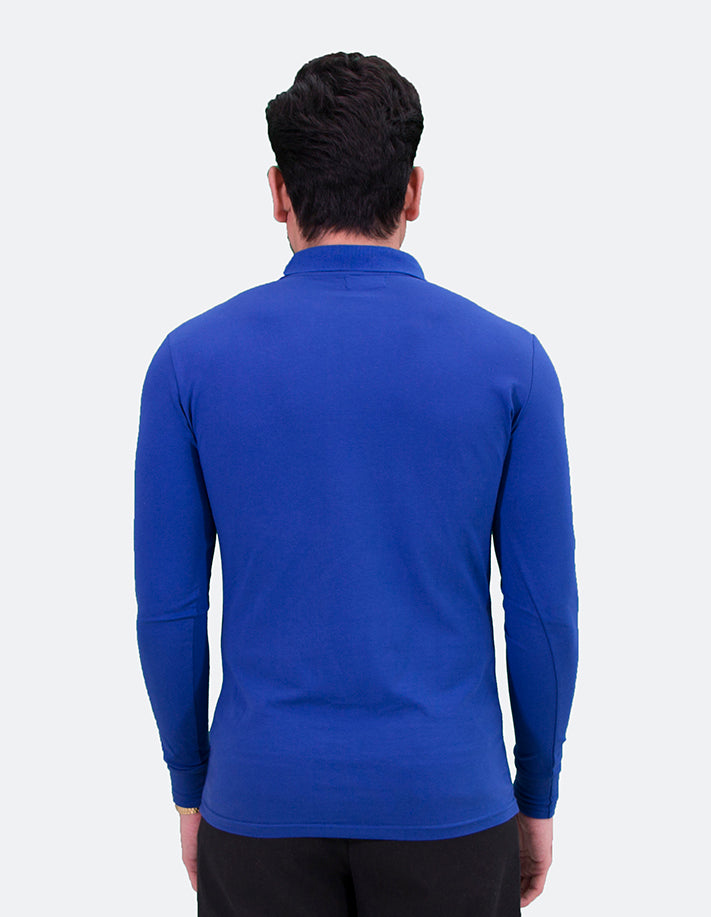 KRIOS - Royal Blue Long Sleeve Polo shirt
