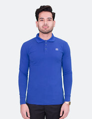 KRIOS - Long Sleeve Royal Blue Polo shirt