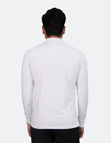 KRIOS - Long Sleeve White Polo Shirt