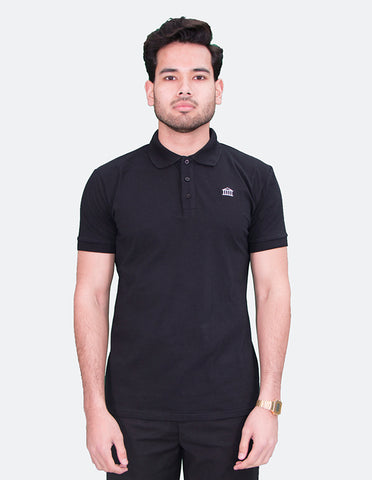 KRIOS - Short Sleeve Black Polo shirt