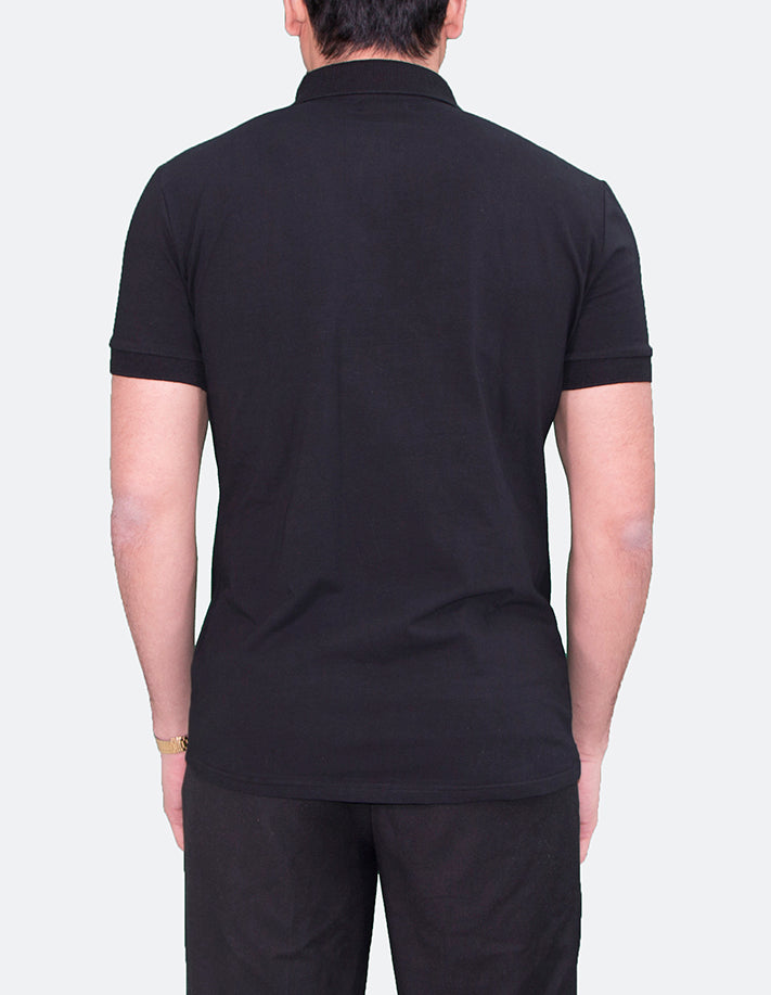 KRIOSWEAR - Black Short Sleeve Polo shirt
