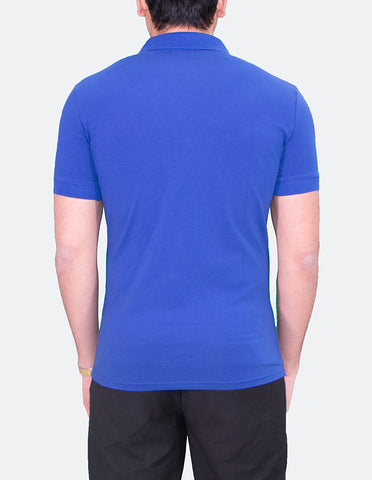 KRIOS - Short Sleeve Royal Blue Polo shirt