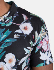 Polo shirt with flowers