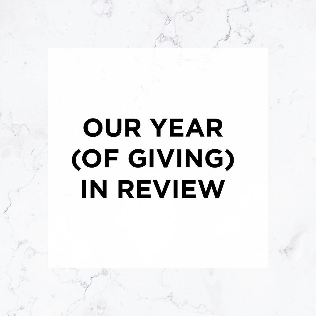 📅 Our Year (Of Giving) In Review