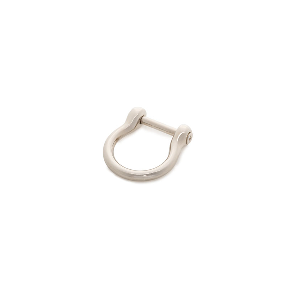 Polished Nickel Horseshoe Ring