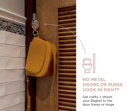 Get crafty and attach your bagnet to the door frame or hinge