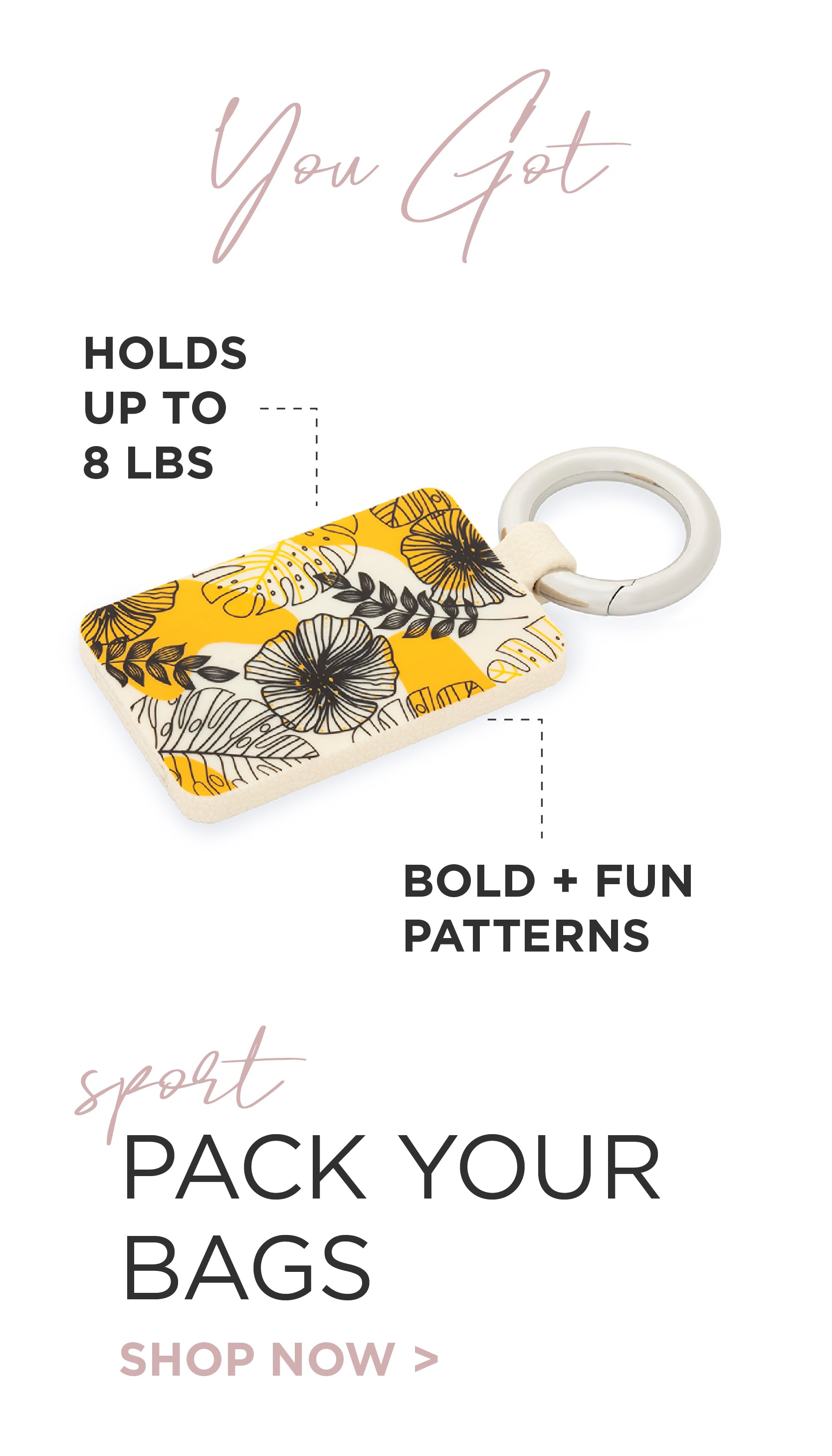 You Got: Pack Your Bags the bold & fun bagnet the magnetic bag holder