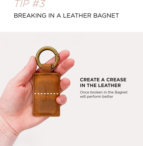 Create a crease in the leather to improve Bagnet performance
